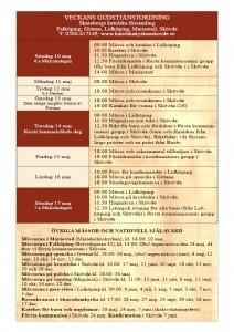 Gudstjänstordning 6e Påsksöndagen